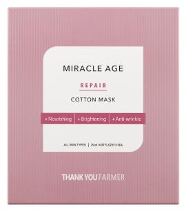 THANK YOU FARMER Miracle Age Repair Cotton Mask Υφασμάτινη Μάσκα Θρέψης Προσώπου, 25ml