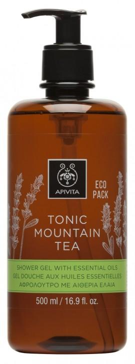 APIVITA Eco Pack Tonic Mountain Tea Αφρόλουτρο με Ελληνικό Τσάι του Βουνού, 500ml