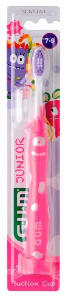 GUM Junior Monster Toothbrush 902M_Pink Παιδική Οδοντόβουρτσα Μαλακή Ροζ για ηλικίες 7-9 ετών  (τεμάχιο 1)