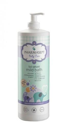 PHARMASEPT Baby Mild Bath, Φυσικό βρεφικό αφρόλουτρο για σώμα & μαλλιά, 1lt