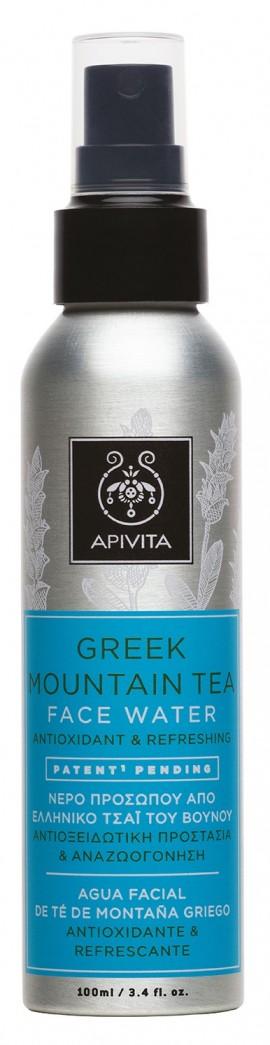 APIVITA Τονωτικό Νερό Προσώπου Αναζωογόνησης & Αντιοξειδωτικής Προστασίας από Ελληνικό Τσάι του Βουνού 100ml