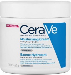 CERAVE Moisturising Cream Ενυδατική Κρέμα για Πρόσωπο/Σώμα για Ξηρό/Πολύ Ξηρό Δέρμα Χωρίς Άρωμα, 454ml