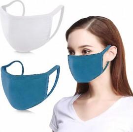 Μάσκα Προστασίας Βαμβακερή Πολλών Χρήσεων, χωρίς πιέτες, Υφασμάτινη διπλή, Υποαλλεργική, 100% Βαμβακερή , 1 τμχ