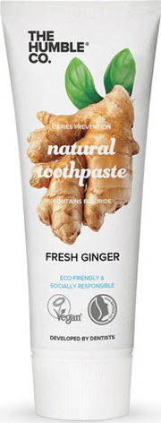 The Humble Natural toothpaste Ginger Φυσική Οδοντόκρεμα Με Γεύση Τζίντζερ 75ml