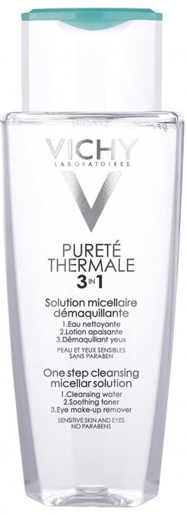 VICHY Purete Thermale 3 in 1 Micellar Water Λοσιόν Καθαρισμού και Αφαίρεσης Μακιγιάζ, 200ml