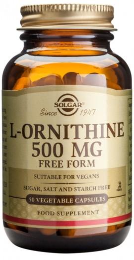 SOLGAR L-ORNITHINE 500MG 50VCAP