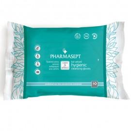 PHARMASEPT Tol Velvet Hygienic Cleansing Gloves, Πρακτικό γάντι καθαρισμού σώματος για την προσωπική υγιεινή, (10 τμχ.)