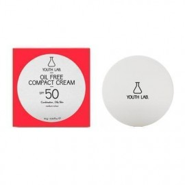 YOUTH LAB Oil Free Compact Cream Spf50 Combination Oily Skin medium color Αντιηλιακή κρέμα compact για μικτό ή λιπαρό δέρμα, υψηλή προστασία και ματ α …