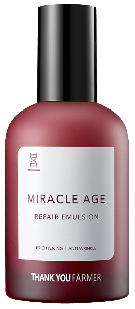 THANK YOU FARMER Miracle Age Repair Emulsion Πλούσιο Γαλάκτωμα Θρέψης με Υφή Υψηλής Πυκνότητας, 130ml
