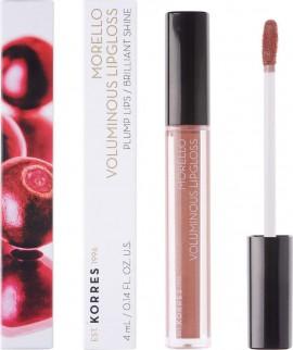 KORRES Morello Voluminous Lip Gloss NO31 Bronze Nude Γεμάτα Xείλη & Λαμπερό Αποτέλεσμα, 4ml