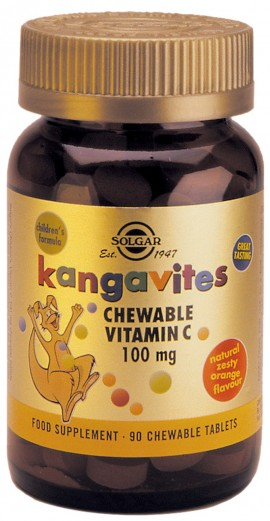 SOLGAR KANGAVITES VIT.C ORANGE 100MG 90Τ