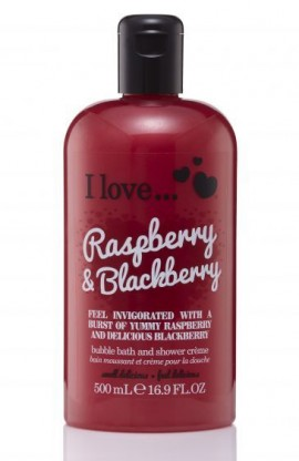I love..Bath & Shower Cream Rasberry & Blackberry Αφρόλουτρο πολυτελείας με άρωμα βατόμουρων 500ml