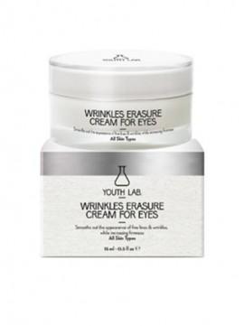 YOUTH LAB Wrinkles Erasure Cream For Eyes All Skin Types Αντιρυτιδική κρέμα ματιών με δράση ενάντια σε μαύρους κύκλους και οιδήματα, για κάθε τύπο δέρ …