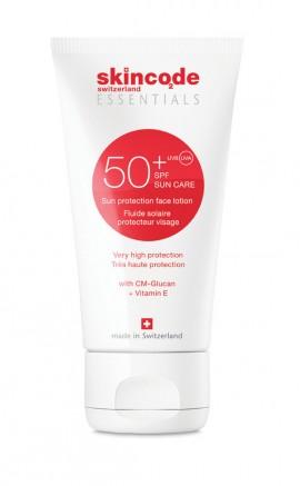 SKINCODE Essentials Sun Protection Face  Lotion SPF50+, Κρέμα Αντηλιακής Προστασίας για το  Πρόσωπο, 100ml