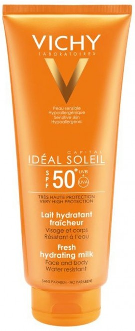 VICHY Ideal Soleil Milk SPF50 Αντιηλιακό Γαλάκτωμα με Υαλουρονικό Οξύ, 300ml