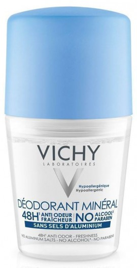 VICHY Deodorant 48h Mineral Roll-On Αποσμητικό Χωρίς Άλατα Αλουμινίου, 50ml