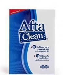 UNI-PHARMA AFTA Clean 10 Επιθέματα για Στοματικά Έλκη με Υαλουρονικό Οξύ