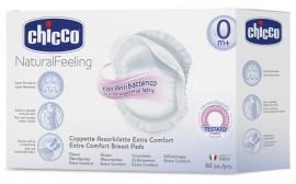 CHICCO Επιθέματα Στήθους Αντιβακτηριακά Φυσική Μέθοδος (συσκευασία 60 Τμχ) code J62-61773-00