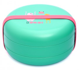 SUAVINEX Πιάτα φαγητού Βοοο!  Για Μωρά +4Μ Άθραυστο Χρώμα Πράσινο-Φούξια εσωτερικά code 10303608