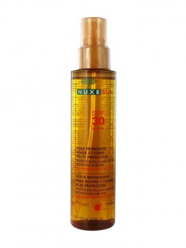 NUXE Sun Tanning Oil Face and Body SPF30, Αντηλιακό λάδι προσώπου και σώματος, 150ml