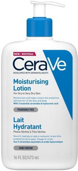 CERAVE Moisturising Lotion Ενυδατικό Γαλάκτωμα για Πρόσωπο/Σώμα για Ξηρό έως Πολύ Ξηρό Δέρμα Χωρίς Άρωμα, 473ml