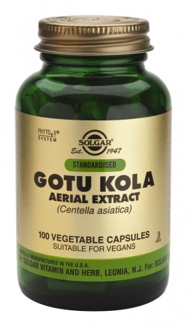 SOLGAR Gotu Kola Aerial Extract, Veg.Caps100