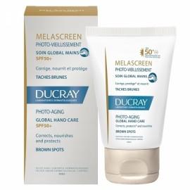 DUCRAY,Melascreen Photo-Aging Crème Mains Global , Κρέμα Χεριών κατά της φωτογήρανσης και των καφέ κηλίδων με SPF 50, 50ml
